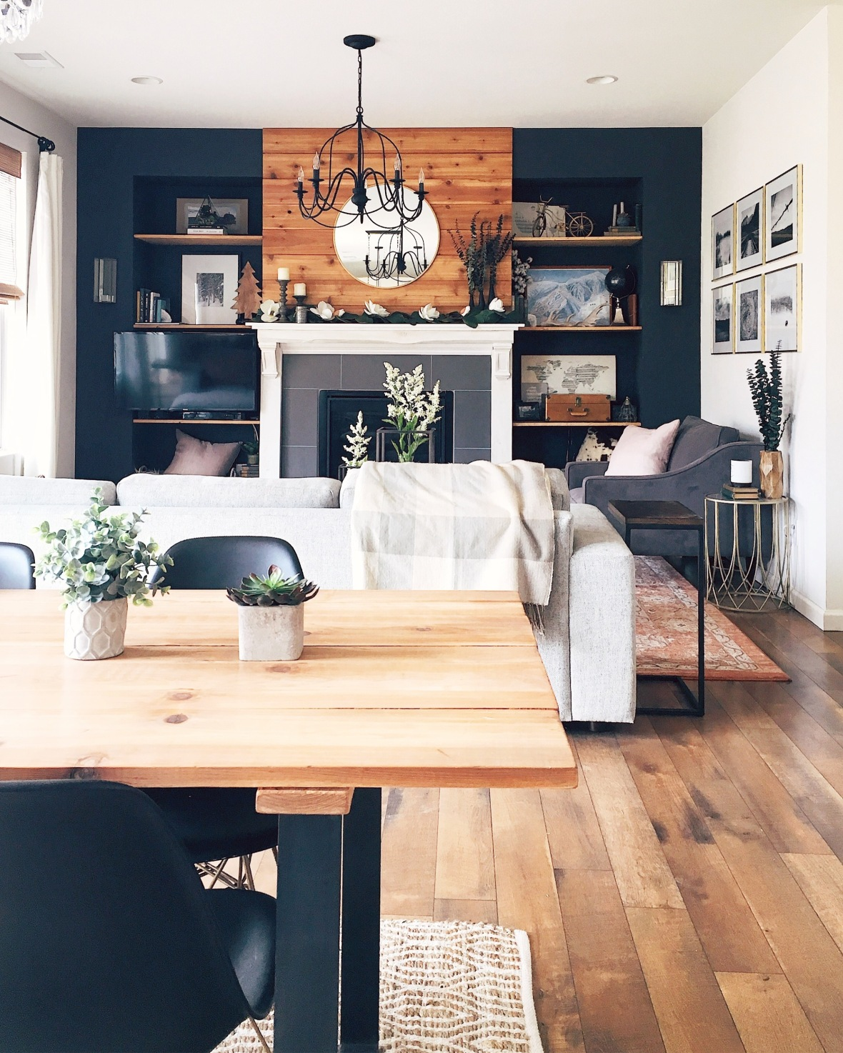 interior design, modern farmhouse, home photography, black and wood, diy farmhouse style
