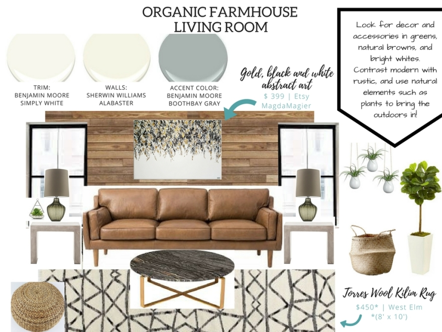 Organic Modern Farmhouse Living Room Nest Out West