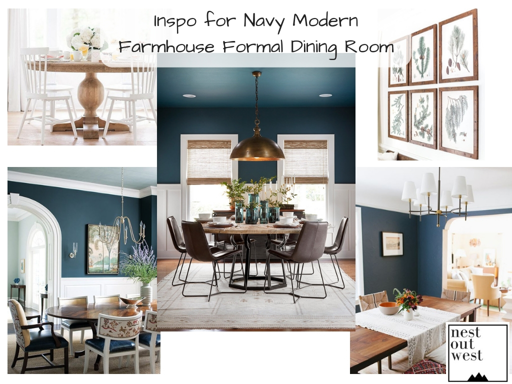Inspo for Navy Modern Farmhouse Formal Dining Room – Nest ...
