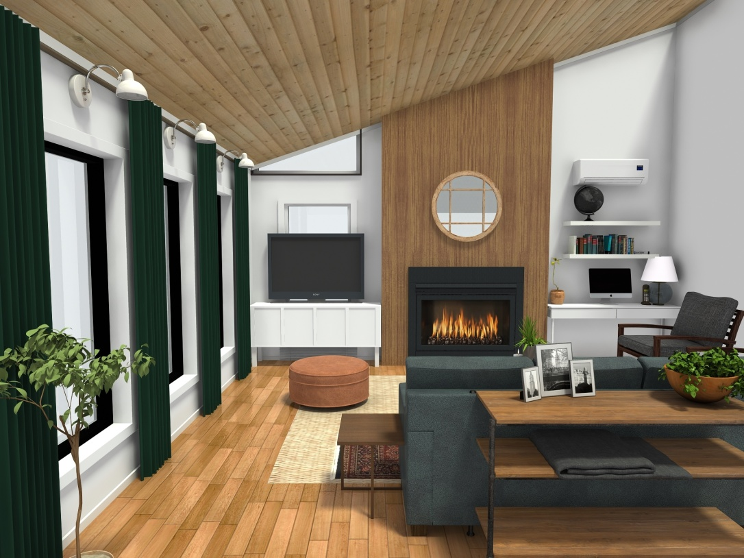 Mid-Mod Living Room HD