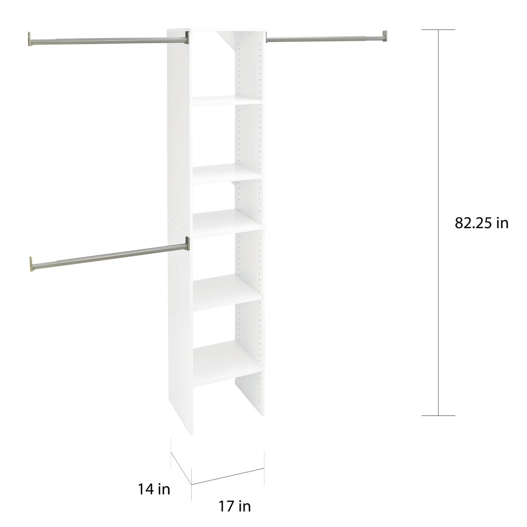ClosetMaid Suite Symphony 16 inch wide tower kit, from Bed Bath and Beyond