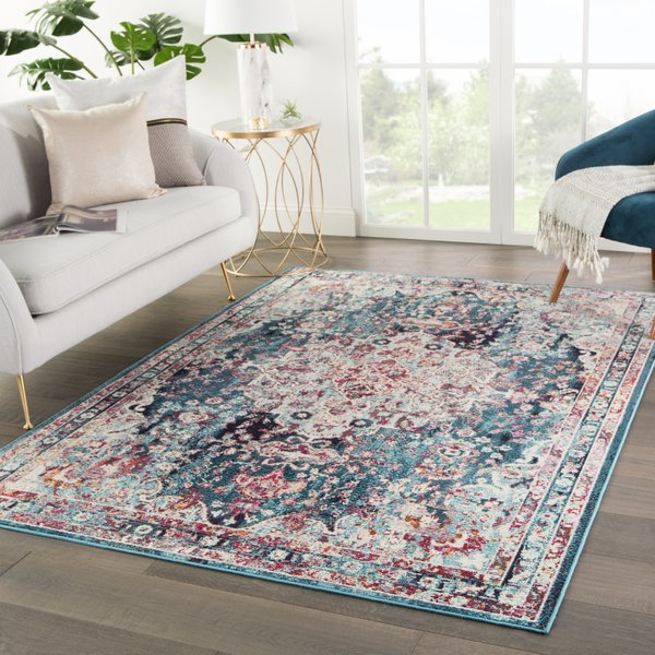 The Marley Boho/Bohemian Medallion Rectangle Area Rug, from Wovenly