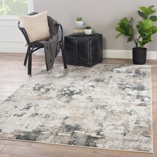 The Travertine Modern Abstract Rectangle Area Rug, from Wovenly